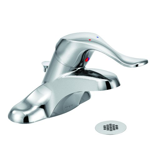 Moen 8425 Commercial M-Bition 4-Inch Centerset Lavatory Faucet with Grid Strainer 1.5 gpm, Chrome