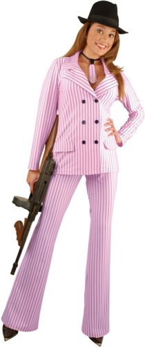 Molls Outfit (Adult Gangster Moll Suit Costume (Size:X-SM 3-5))