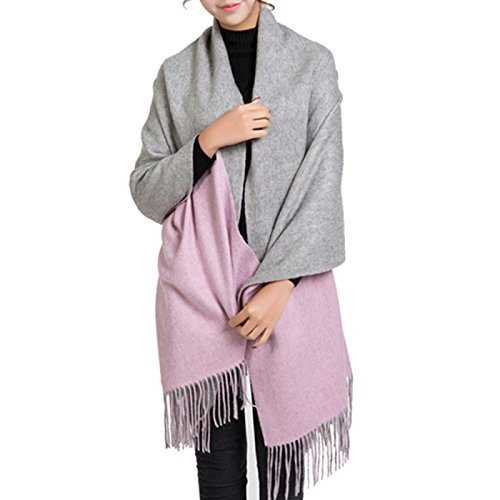 Cashmere Wrap Shawl Stole for Women Winter Extra Large(79 X 28) Men Solid Lambswool Pashmina Scarf with Gift Box