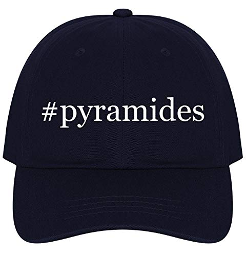 - The Town Butler #Pyramides - A Nice Comfortable Adjustable Hashtag Dad Hat Cap, Navy