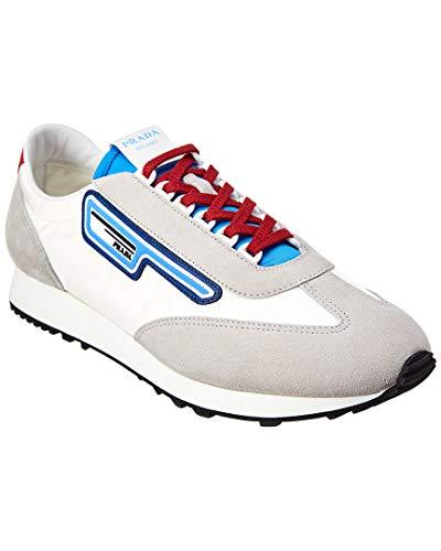 Sneakers Suede Prada - Prada Mln 70 Suede-Trim Sneaker, 8 UK, Grey