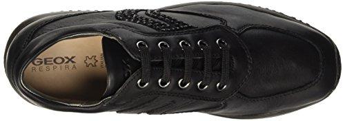 Sneakers Geox C Hautes Schwarz Femme Happy blackc9999 aaEqUP