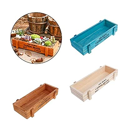 HXSD Wooden Multifunctional Storage Desk Box for Flowers Plants Potting Desk Pen Organizer Garden Home Decoration (Color : Brown): Home & Kitchen