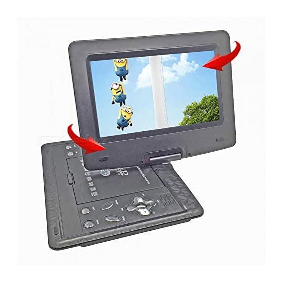 ABB INDIA Solutions & Services 13.9 inch LCD 3D Portable EVD DVD Player with Dolby Stereo Sound (Black)