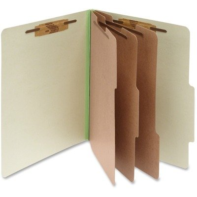 Sectioned Top Tab Classification Folders - ACCO - Pressboard 25-Pt. Classification Folder, Letter, 8-Section, Leaf Green, 10/Box - Sold As 1 Box - Sectioned for efficient organization.