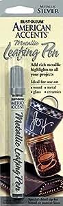 Rust-Oleum American Accents 215191 1/3 fl. oz. Silver Metallic Leafing Pen (6-Pack)