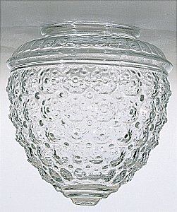 - Clear Pineapple Glass Shade - 3-1/4-Inch Fitter Opening