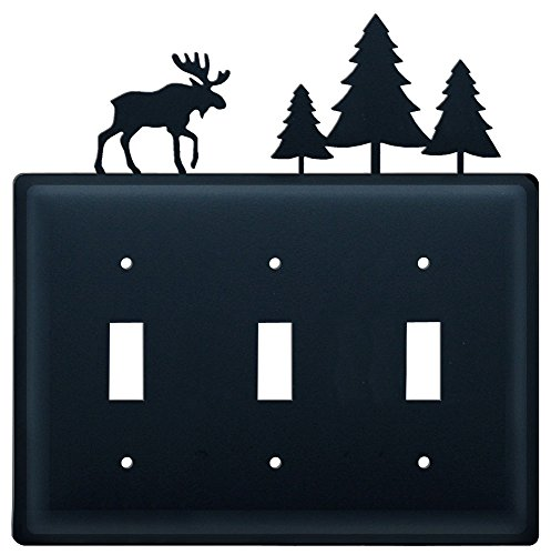 8 Inch Moose and Trees Triple Switch Cover