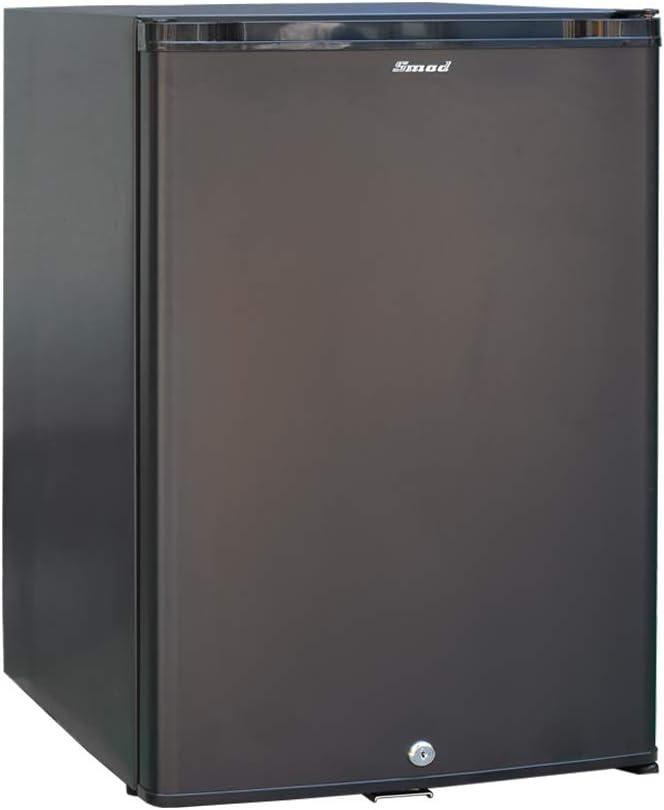 Smad Mini Nevera Silenciosa Portátil con Cerradura CA 220V / CC 12V Absorción 40L Negro