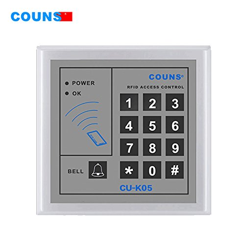 COUNS RFID ID Door Access Control Stand Alone Single Door System With Keypad Support 500 Users for Company Home Door Keypad Locks ,Door Key Fobs or Card Locks