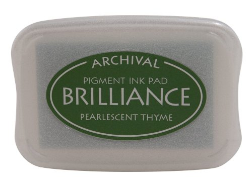 - Tsukineko Brilliance Full-Size Pad, Pearlescent Thyme