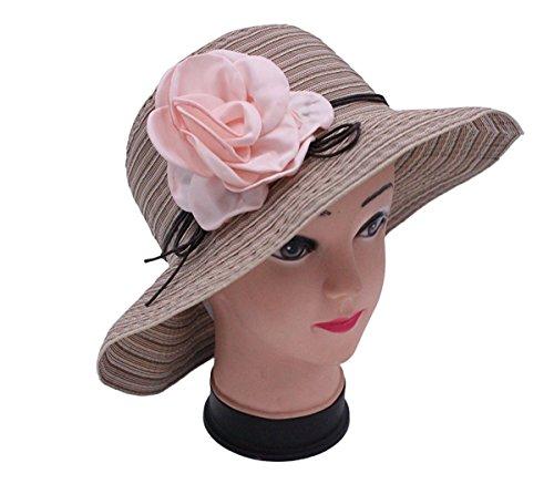 Miki Da Women Summer Sun Hat Caps with Flower Outdoor UPF 50+ Beach hat - Chicago Snapback Bulls Australia