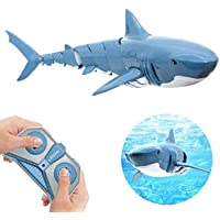 Remote Control Shark Toys,Electric Simulation Waterproof Fish RC Shark 2.4G Water Swimming Toddlers Toys