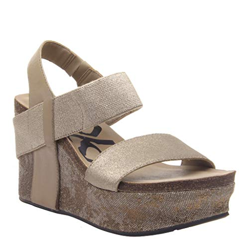 OTBT Women's Bushnell Wedge Sandals - MID Taupe - 6.5 M US