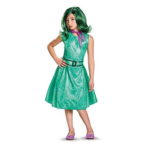 Inside Out Disgust Classic Girls Costumes (Disguise Womens Inside Out Disgust Classic Girls Fancy dress costume Large by Disguise)
