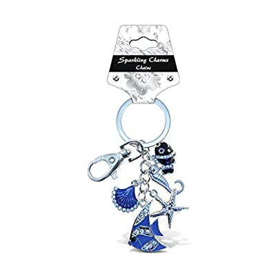 Puzzled Beach Collection Sparkling Charm Keychain: Toys & Games