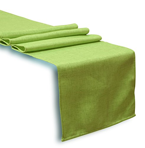 Aiking Home Solid Faux Linen Unlined Table Runner 13 By 72 i