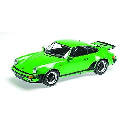 """Minichamps 125066102 """"1977 Porsche 911 Turbo Modelo, Verde Metálico, ..."""