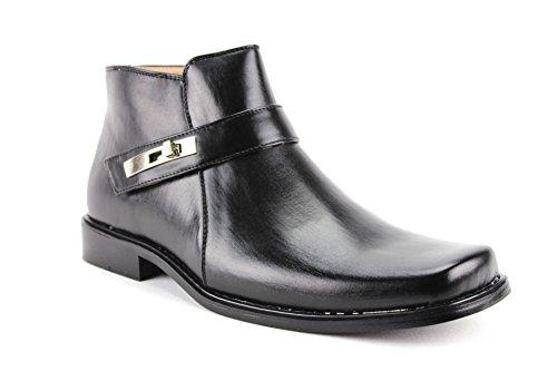 Majestueuze Heren 38901 Enkel Hoge Vierkante Neus Casual Laarzen (zwart)