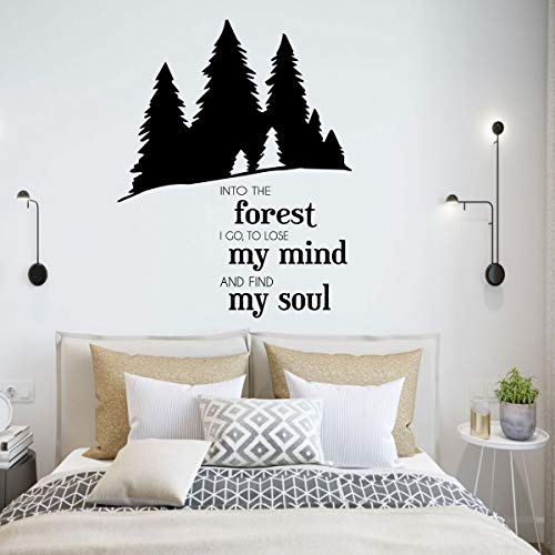 Outdoors Vinyl Wall Decal - John Muir Nature Quote Lettering Sticker -