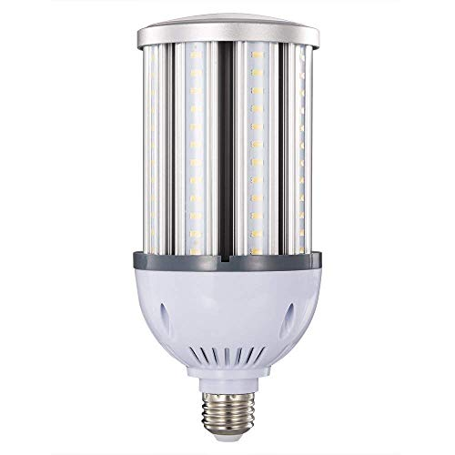 36W 38W 40W LED Corn Light Bulb,E26 Medium Screw Base,Street and Area Light,175Watt Equivalent,Metal Halide High Pressure Sodium Replacement,4300lumen,5000K Daylight,360°Flood Light,ETL Listed