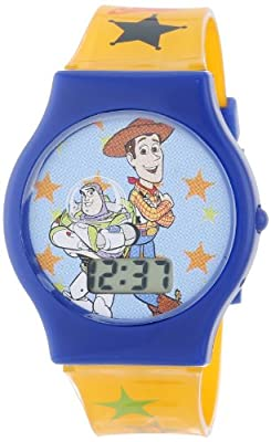 Disney Kids' TY1095 Toy Story Watch with Yellow Plastic Band from Accutime Watch Corp.