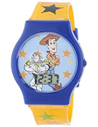 Disney Boy's Toy Story Digital Dial Orangle Jelly Strap Watch Multicolour TY1095