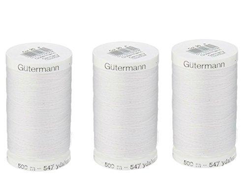 Sew-All, All PurposeThread 547 Yards-Black GUTERMANN Thread 3 pack (White) from Gutermann
