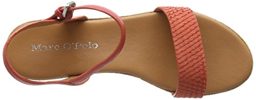 Marc O'Polo Wedge Sandal - Sandalias Mujer Rojo - Rot (coral 343)
