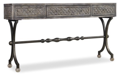 Hooker Furniture Melange 3-Drawer Ravenna Console Table in Weathered Gray from Hooker Furniture