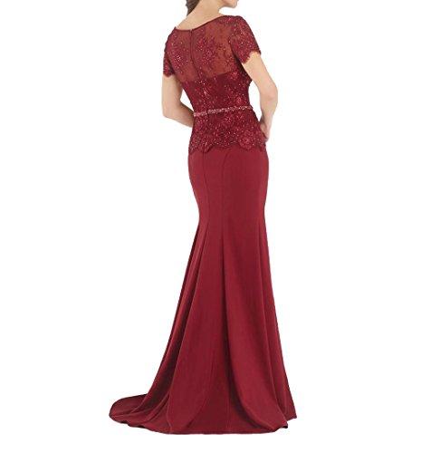 Partykleider 2018 Ballkleider Lila Etuikleider mia Neu Lang Elegant Meerjungfrau La Dunkel Braut Abschlussballkleider Abendkleider UF0EAqA