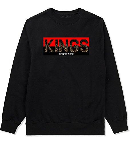 Kings Of NY Cheetah Logo Animal Print Leopard Boys Kids Crewneck Sweatshirt X-Large (Animal Logo Sweatshirt)