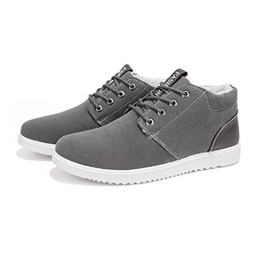 en para 39 Planas Zapatos Hombre Azul 44 Fashion con Forradas Gris Cordones Clásicas Marrón Invierno Gris Casual Zapatillas Gamuza Botas Cvq5TFwxBB