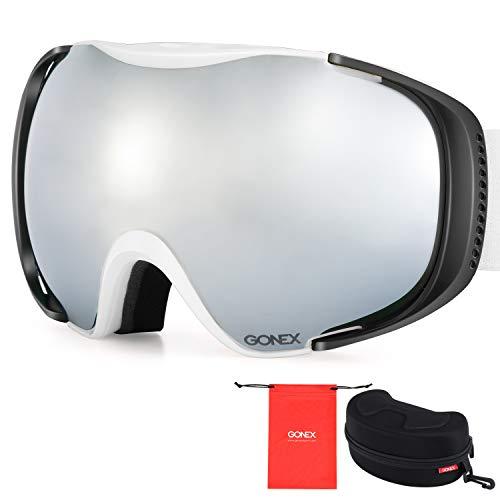 03f10c552d6e Gonex Polarized Ski Goggles Anti-Fog Anti-Glare Snow Goggle UV400  Protection with Oversized Double Spherical Lens for Skiing Snowboard Skate  Winter Sports+ ...