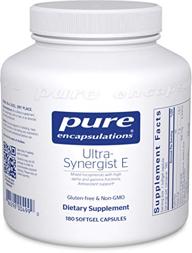 (Pure Encapsulations - Ultra-Synergist E - Vitamin E Mixture for Antioxidant Support, Prostate Health, and Cardiovascular Function - 180 Softgel Capsules)