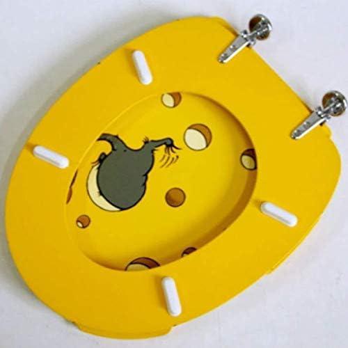 HZDXT MDF付き便座AsientoデInodoroマウスの便座はU/O/Vシェイプトイレ、A、Aのためにトイレのふたをインストールするには、超耐性簡単にマウントされた厚みのトップに遅くなることはありませ