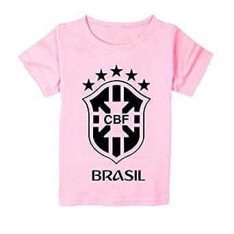 FMstyles Brasil Fan 2018 Light Pink Kids Tshirt - FMS287