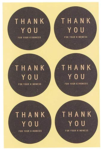 LeBeila Adhesive Thank You Stickers - Design Printed Labels 120 Pcs Party Favors Tags for Celebrating, Wedding, Birthday & Business Personalized Handmade Gift Seal Decoration (120 Packs, -