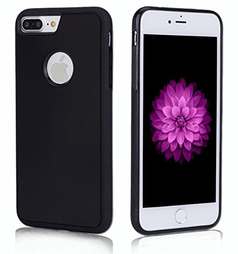 iPhone 7 PLUS Accessory Crunch Anti-Gravity Selfie Case for iPhone 7, Nano Suction Stick to Glass, Tile, Car GPS, Most Smooth Surface (7 PLUS Black)