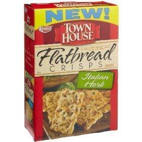 Keebler, Town House, Flatbread Crisps, Italian Herb Crackers, 9.5oz Box (Pack of 6) by Keebler ()
