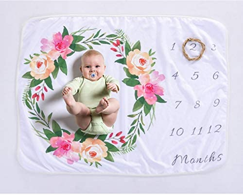 pink swaddle cotton Floral milestone baby swaddle muslin muslin flowers baby gift newborn nursery photo swaddle baby girl milistone
