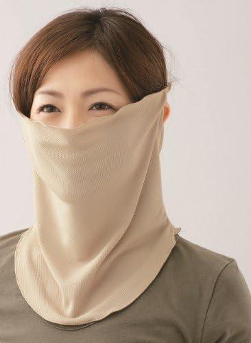 すっぴん日よけカバー 2枚組 紫外線対策 日焼け防止 UVカット! (ブラック