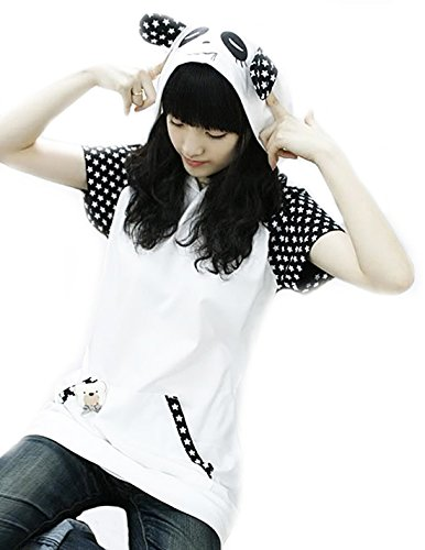 Cosplay Ladies Anime Hoody Hoodie Ears Costume Raccoon Teddy Panda Emo Bear T Shirt Top Shirt (Anime Costume Ideas For Girls)