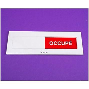 Faberplast FB1128 - Cartel libre ocupado francés, color ...
