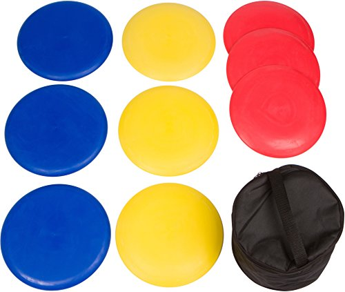 Trademark Innovations 9-Piece Disc Golf Set with Carry - 9 Golf Piece