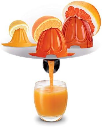 Moulinex Vitapress PC603D Exprimidor 100W de potencia con vertido directamente en el vaso, 3 conos para limones, naranjas, pomelos y tope antigoteo