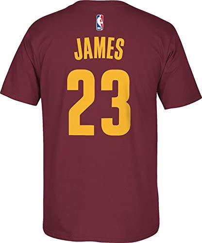 adidas Lebron James Cleveland Cavaliers Burdeos Jersey Nombre y número Camiseta