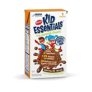 Boost Kid Essentials 1.0 Nutrition Chocolate Flavor 8 oz. Brik Pak [Case of 27]