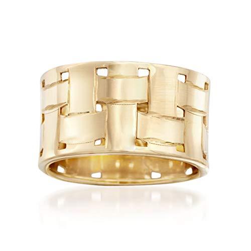 Ross-Simons Italian 14kt Yellow Gold Basketweave Ring