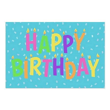 CGSignLab | Inner Circle ''Birthday Candles'' Repositionable Opaque White 1st Surface Static-Cling Non-Adhesive Window Decal (5-Pack) | 36''x24'' by CGSignLab